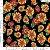 Tecido 100% algodão - Estampa Girasol Fundo Preto- 0,50 metro - Imagem 1