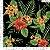 Tecido 100% algodão - Estampa Flores Fundo Preto 0,50 metro - Imagem 1
