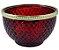 Vaso Vidro Bubble 7,5CM - Vermelho/Dourado - Imagem 1