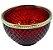 Vaso Vidro Bubble 7,5CM - Vermelho/Dourado - Imagem 2