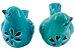 Pássaro Cerâmica Flores Azul Lateral Direita 4172 - Imagem 6