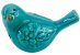 Pássaro Cerâmica Flores Azul Lateral Direita 4172 - Imagem 4