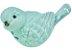 Pássaro Cerâmica Garden Azul Claro Lateral Direita 4174 - Imagem 2