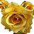 Buque Rosa Diamante X6 30CM Amarelo 03322 - Imagem 5