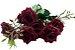 Buque Rosa Diamante X6 30CM Vermelho - Imagem 1