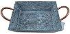 Bandeja Retangular Rustico Cobre - Imagem 1
