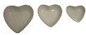 Coração Cerâmica Pequeno Branco 9,3 x 9,2 - Imagem 2