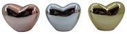 Enfeite Coração Cerâmica Rose 6,3CM 2008093 - Imagem 2