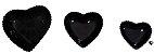 Coração Cerâmica Pequeno Preto 9,3 x 9,2 2008080 - Imagem 2