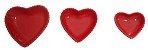 Coração Cerâmica Pequeno Vermelho 9,3 x 9,2 - Imagem 2