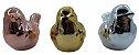 Enfeite Pássaro Cerâmica Dourado 10CM - Imagem 4
