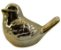 Enfeite Pássaro Cerâmica Dourado 10CM - Imagem 2