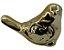 Enfeite Pássaro Cerâmica Dourado 6CM FR161405 - Imagem 1