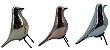 Enfeite Pássaro Cerâmica Prata - Pequeno FR201808 - Imagem 4