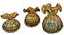 Murano Vaso Italy Ambar / Dourado 13x17 4388 - Imagem 2