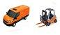 Brinquedo Miniatura Van Iveco Daily Com Empilhadeira Usual - Imagem 6