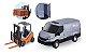 Brinquedo Miniatura Van Iveco Daily Com Empilhadeira Usual - Imagem 2
