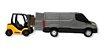 Brinquedo Miniatura Van Iveco Daily Com Empilhadeira Usual - Imagem 4