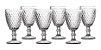 Jogo 06 Taças Água Bico De Abacaxi Transparente - Imagem 1