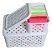 Caixa Organizadora Plástico Rattan 24 X 17 x 12 Branco 709 - Imagem 2