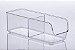 Organizador Com 2 Divisórias 28x10x9cm - 885 Transparente - Imagem 1