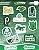 Cartela de 10 adesivos do Palmeiras - Imagem 1