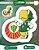 Cartela de 2 adesivos do mascote Periquito - Palmeiras - Imagem 1