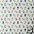 Papel p/ Origami 15x15cm Estampada Face Única (20fls) Washi Chiyogami Flor Aquarela- Daiso - Imagem 4
