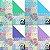 Papel Origami 15x15cm Quilt Pattern 1 AEH00156 (20fls) - Imagem 3