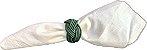 4 peças- porta guardanapo  Madeleine verde escuro - Imagem 1
