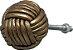 Puxador  para  móveis  em couro dourado - Imagem 1