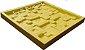 Forma Molde pra Gesso 3D e Cimento Silicone Modelo Travertino 28x28 - Esquadro Perfeito - Imagem 3