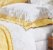 Margaridas- Jogo de cama bordado Queen - 200 fios - 100% algodão - Imagem 1