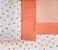 Pêssego - Jogo de Cama Queen - 4 Peças - 100% algodão - Imagem 1