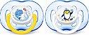 Chupeta Avent Freeflow 18+ meses Dupla (pack com 2 uni) Azul - SCF186/24 - Philips Avent - Imagem 1
