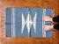 Tapetinho de bico azul claro e branco - Imagem 1
