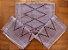 Kit passadeira em algodão artesão bordô - Imagem 1