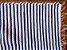 Tapetinho em malha listrada cinza e branco - Imagem 2