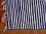 Tapetinho em malha listrada azul marinho e branco - Imagem 2