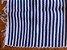 Tapetinho em malha listrada azul claro e branco - Imagem 2