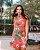 Vestido estampa floral coral - Imagem 1
