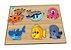 Quebra-cabeça com Pinos Animais Aquáticos - Imagem 1