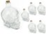 Kit 6 Garrafa de Vidro Formato Cranio Caveira Com Tampa Rolha Resistente 450ml - Imagem 1