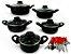 Conjunto De Caçarola 5 Peças Para Sua Cozinha Antiaderente Com Tampa de Vidro  e Talheres - Imagem 1