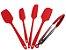Jogo De Espátulas e Pegador Para Salada Em Silicone Resistente Altas Temperaturas Não Risca Panela - Imagem 5