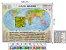 Mapa Mundi Planisfério Político Escolar Divisão De Países e Capitais 120x90 cm Edição Atualizada - Imagem 2