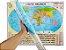 Mapa Mundi Planisfério Político Escolar Divisão De Países e Capitais 120x90 cm Edição Atualizada - Imagem 1