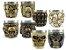 Kit 2 Copos Shot Dose Em Aço Inox Resina Colecionável Decorativo Para Tequila Whisky Vodka - Imagem 1
