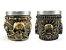 Kit 2 Copos Shot Dose Em Aço Inox Resina Colecionável Decorativo Para Tequila Whisky Vodka - Imagem 8