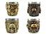 Kit 4 Copos Shot Dose Colecionável Decorativo  Em Aço Inox Resina Para Tequila Whisky Vodka - Imagem 3